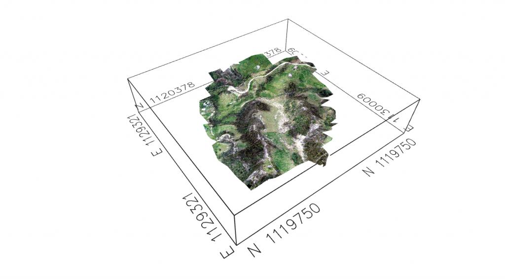 Cubo coordenado 3D en QGIS 3