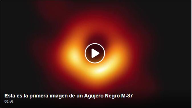 Esta es la primera imagen de un Agujero Negro M-87