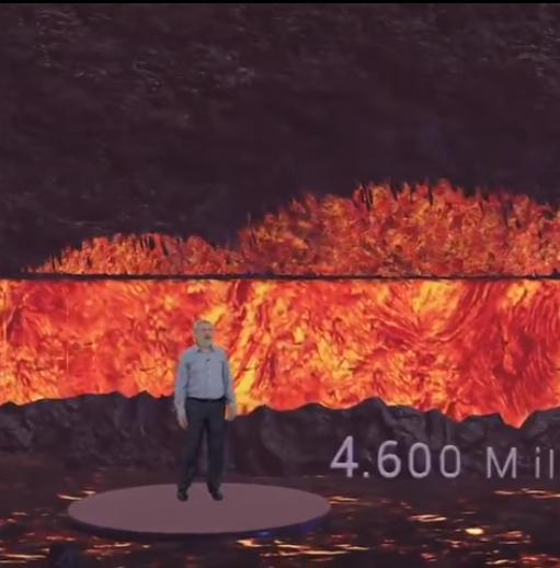 ¿Qué pasa en el interior de la tierra del volcán?